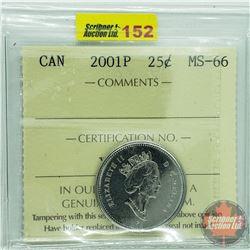 Canada Twenty Five Cent : 2001P (ICCS Cert MS-66)