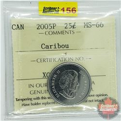 Canada Twenty Five Cent : 2005P Caribou (ICCS Cert MS-66)