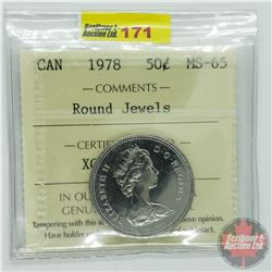 Canada Fifty Cent : 1978 Round Jewels (ICCS Cert MS-65)
