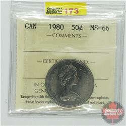 Canada Fifty Cent : 1980 (ICCS Cert MS-66)
