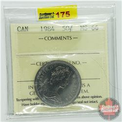 Canada Fifty Cent : 1984 (ICCS Cert MS-66)