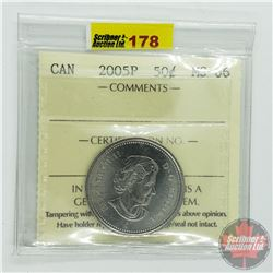 Canada Fifty Cent : 2005P (ICCS Cert MS-66)