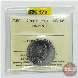 Canada Fifty Cent : 2006P (ICCS Cert MS-66)
