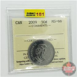 Canada Fifty Cent : 2009 (ICCS Cert MS-66)