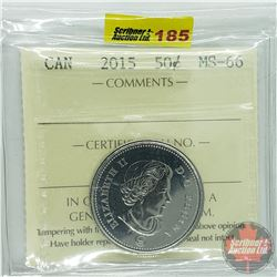 Canada Fifty Cent : 2015 (ICCS Cert MS-66)