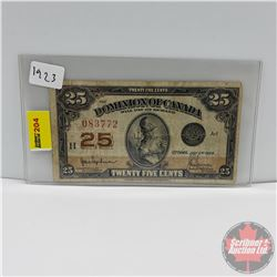 "Dominion of Canada Twenty Five Cent ""Shinplaster"" 1923 (083772)"