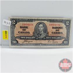 Canada $2 Bill 1937 (Coyne/Towers K/R9894076)