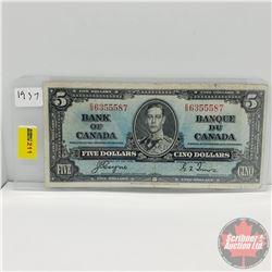 Canada $5 Bill 1937 (Coyne/Towers E/S6355587)