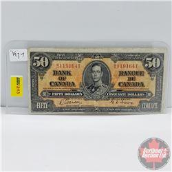 Canada $50 Bill 1937 (Gordon/Towers B/H1191641)