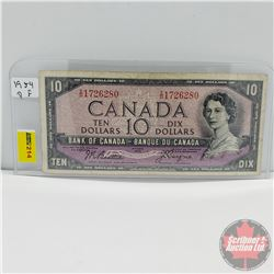Canada $10 Bill 1954DF (Beattie/Coyne T/D1726280)
