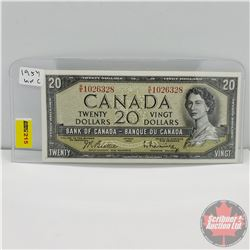 Canada $20 Bill 1954 (Beattie/Rasminsky R/E1026328)