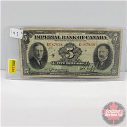 Imperial Bank of Canada $5 Bill 1939 (E087838)