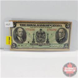 The Royal Bank of Canada $5 Bill 1935 (1711292)