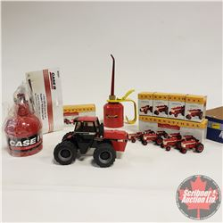Tray Lot  : Case IH Toy Tractor, 2 International Collector Sets, 2 Oilers (CASE & COCKSHUTT)