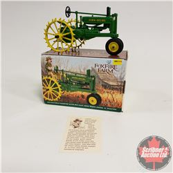 Toy Tractor: John Deere Model A with Driver 1/16 Scale