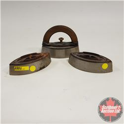 Sad Irons (3) & Handle