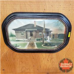 "Antique Picture/Frame (Convex Glass)  15""H x 23"" W"