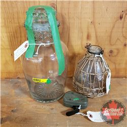Antique Apothecary Container by Whitall & Tatum Co. AND Antique Wasp Trap AND Antique Phillips Flash