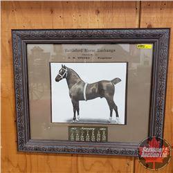 "Battleford Horse Exchange Calendar 1913 (Framed) 17""H x 20""W"