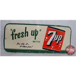 """7-UP Embossed Sign - Made in Canada (29"""" x 12"""")"""