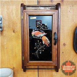 """Wall Mount Cabinet w/Glass Door & Towel Rack (24""""H x 12""""Wx 5""""D)"""