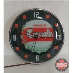 """Orange Crush """"Dot"""" Clock (Pam Clock Co. New York) (Lighted & Working)"""