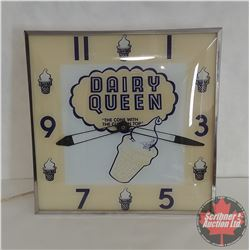 Dairy Queen (Pam Clock Co. New York) (Lighted & Working)