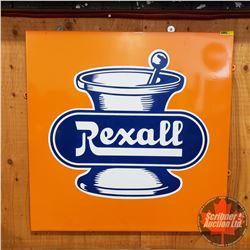 "REXALL Enamel Sign (28"" x 28"")"