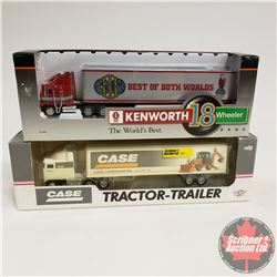 Toy Tractor/Trailers (2): Case Corporation & CASE IH  (1/64 Scale)