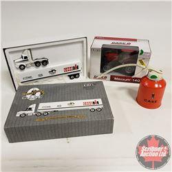 Toy CASE Group (3): Maxxum 140 Tractor & Tractor / Trailer & Oiler