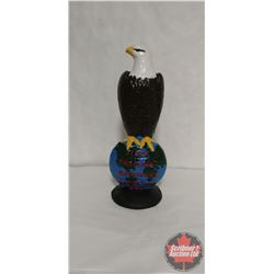 """Cast Iron Case Eagle Statue (16"""" Tall) Approx 35lbs"""