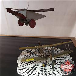 Tin Toy Airplanes (2)