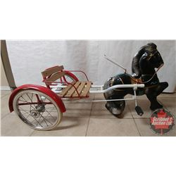Mobo Pedal Horse and Sulky Cart
