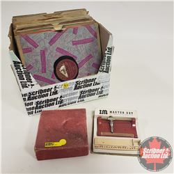 Box Lot : Variety Records 78's AND Phonograph Needle Sharpener  !