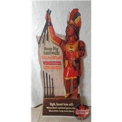 Winchester Cardboard Display in Orig Box w/Advertising Dealer Display Included (5' x 2')