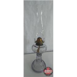 Wreath & Torch Coal Oil Lamp (Turning Purple)