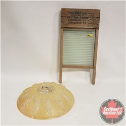 The Fraser Washboard & Large Ceiling Light Shade