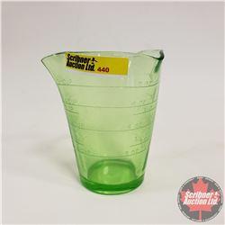 Vaseline Glass Measure Cup