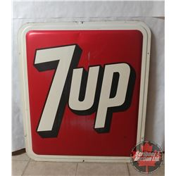 """Large Embossed 7-UP Sign (36""""x 31-1/2"""")"""