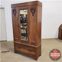 """Armoire (2 Piece) Bevelled Mirror Door (77""""H x 42""""W x 17""""D)"""