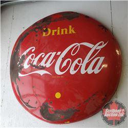 1950's Coca Cola Advertising Button 4' (Face Damage)