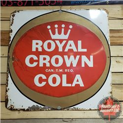 "Tin Sign : Royal Crown Cola (35"" x 35"")"
