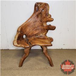 "Natural Wood Teak Root Furniture : Chair (43""H x 30""W x 20""'D)"