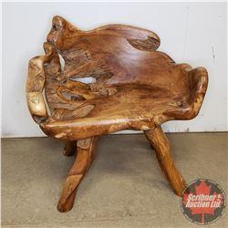 "Natural Wood Teak Root Furniture : Chair (31""H x 30""W x 22""D)"