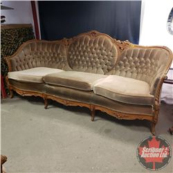 """Tufted Victorian Style Sofa (88"""" L x 36"""" H) (Rips/Stains)"""