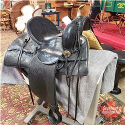 Rare Al Furstnow Western Brass Horn Saddle c. 1905-1915 (Miles City, Montana)