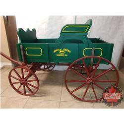 John Deere Child's Wooden Buckboard Wagon