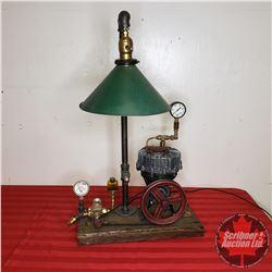 "Steam Punk Lamp (28""H)"