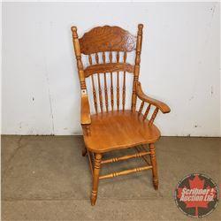 "Press Back Arm Chair (42""H)"