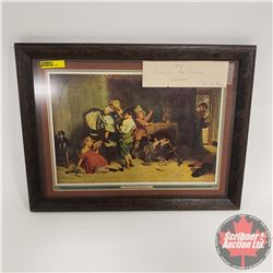 1938 Hudson's Bay Company Calendar Top - Framed !